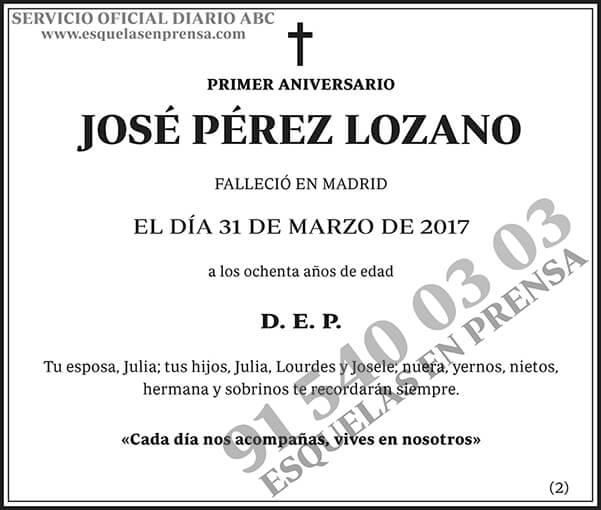 José Pérez Lozano